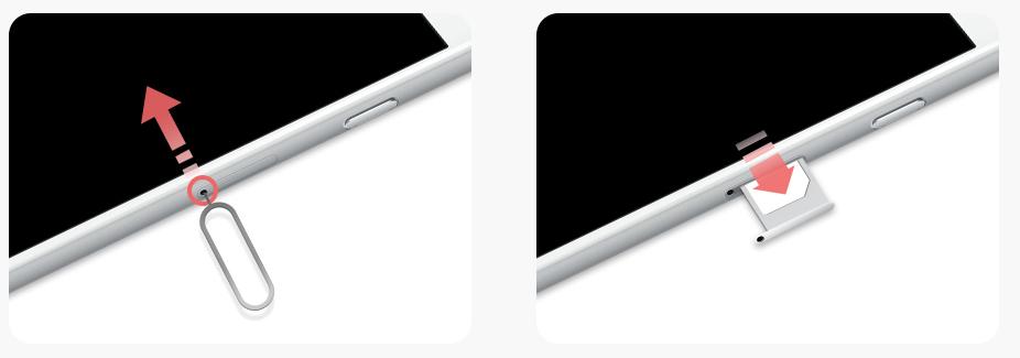 楽天モバイル_ iPhoneのSIMカードを取り出す